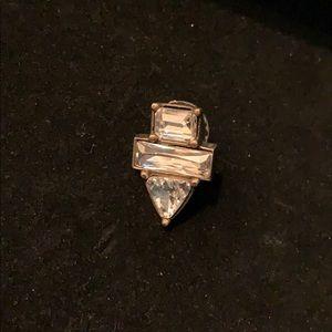 Single Silpada crystal clear earring
